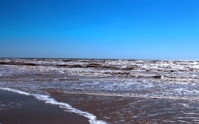 Picture sand, sea, photo, footprints in the sand, The sea of Azov