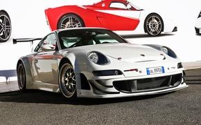 Picture white, 911, Porsche, white, Porsche, GT3, RSR