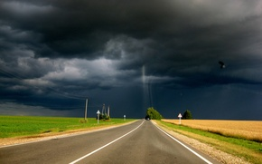 Picture road, the storm, cloud