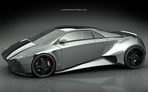 Wallpaper power, grey, Lamborghini Embolado