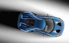 Picture Concept, Ford, Blue, View, The concept, Ford, Top, 2017