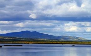 Picture mountains, lake, KNASP