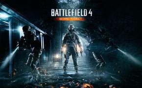 Wallpaper Water, Gun, Metro, Soldiers, Machine, Battlefield 4, Flashlight, Second Assault