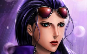 Picture look, girl, glasses, art, one piece, lilyzou, one piece, nico robin