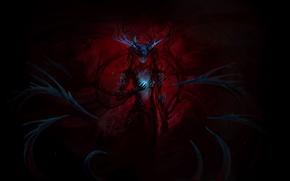 Picture darkness, magic, elf, art, horns, elf, ears, sandara