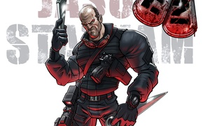 Wallpaper The Expendables 2, Jason Statham, The expendables 2, Lee Christmas, actor, Jason Statham