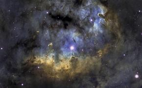 Picture stars, light, nebula, The universe, galaxy, NGC-7822