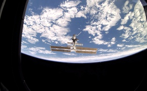 Picture space, clouds, Earth, ISS