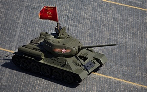 Picture T-34-85, holiday, victory day, Soviet, average, red square, tank, parade