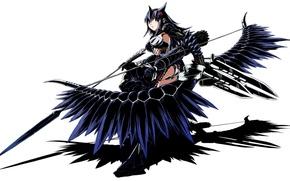 Picture girl, weapons, bow, art, arrows, ears, monster hunter, funamushi, funa, naruga kuruga