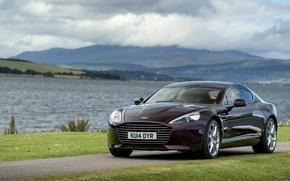 Picture photo, Aston Martin, coast, car, metallic, Fast S