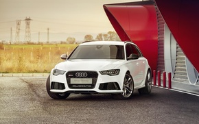 Picture Audi, white, front, RS6