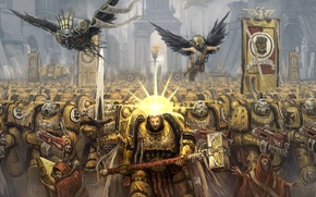 Picture yellow, Warhammer, Black Templars, 40000, Imperium