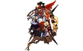 Picture anime, blazblue, noel vermillion, rachel alucard, ragna the bloodedge