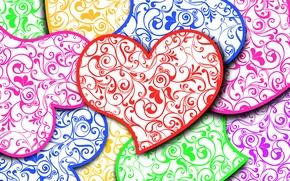 Wallpaper Valentin, pattern, holiday, lovers, heart