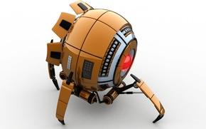 Wallpaper 3D model, science fiction, Robot