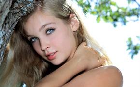 Picture girl, face, sweetheart, model, hair, blonde, sponge, beautiful, Sienna