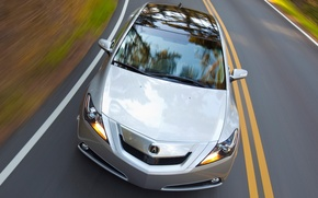Wallpaper road, speed, Auto, Acura ZDX on road