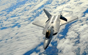Wallpaper Flight, The sky, Multipurpose, Clouds, F-22, Height, Fighter, Raptor