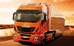 Picture movement, desert, track, 500, tractor, Iveco, Stralis, Hi-Way