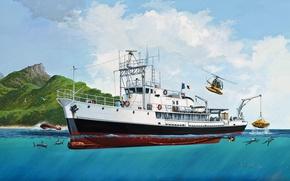 Picture ship, Jacques-Yves Cousteau, Calypso, Captain Cousteau, Calypso