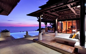 Picture Thailand, Purple sunset at Pimalai, Green Beach resort