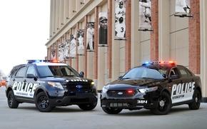 Picture jeep, sedan, spec.version, Sedan, Explorer, Taurus, Police Interceptor, Explorer, Ford, police, Taurus, Ford