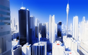 Picture the city, mirrors edge