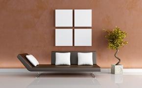 Picture design, house, style, sofa, plants, apartment, comfort, the idea, the idea