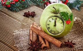 Picture Merry, decoration, Christmas, Apple, Christmas, New year, decoration, xmas, cinnamon