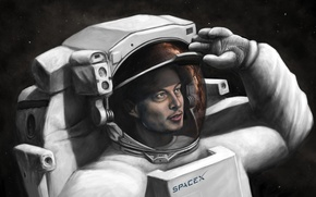 Picture SpaceX, spacesuit, Elon Musk