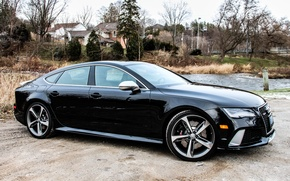 Picture nature, Audi, view, black, RS7