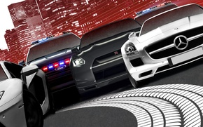 Picture nissan, mercedes, lamborghini, 2012, ford, Need for Speed, nfs, gt-r, gtr, sls, aventador, Most Wanted, …