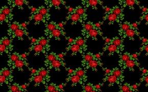 Wallpaper flowers, pattern, roses