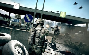 Picture game, weapons, war, soldiers, battlefield 3, uncle Bob