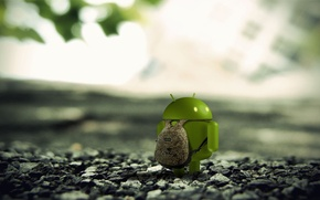 Picture forest, Android, backpack, android