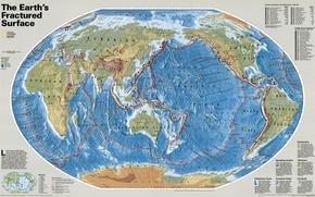Wallpaper relief, continents, planet, bark, coordinates, earth, Islands, map