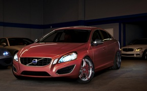 Wallpaper the Volvo, red, class, drives