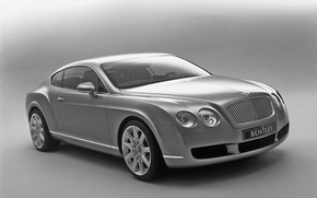 Wallpaper auto, Bentley, Continental, B/W