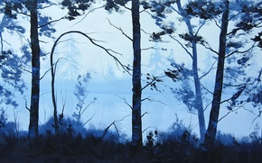 Picture ART, FIGURE, ARTSAUS, BLUE LAKE