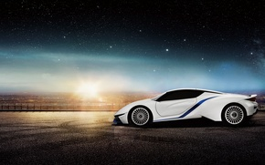 Picture supercar, electric car, Electric Supercar, Arcfox-7, BAIC
