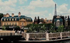 Picture trees, the city, people, Paris, building, home, Paris, France, promenade, street, France, parks