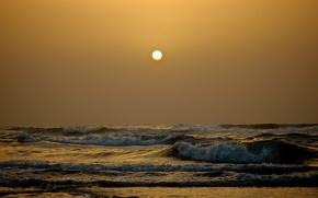 Picture waves, sea, sun