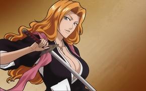 Picture blonde, Bleach, anime, Rangiku Matsumoto