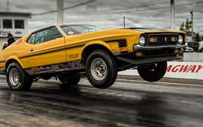 Picture race, Mustang, Ford, Ford, Mustang, Muscle car, drag racing