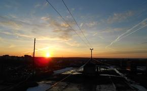 Picture roof, the sky, sunset, the city, Kaluga, Kaluga