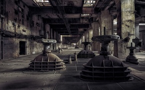 Picture post, devastation, hall, abandonment, the room, Power