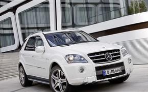 Picture machine, tuning, white, mercedes, Mercedes, benz, amg, ml63