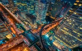 Wallpaper life, the city, lights, the evening, Thailand, Bangkok, capital, night