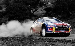 Wallpaper Citroen, Machine, DS3, Citroen, Dust, Speed, WRC, Rally, Sport, Red Bull, Rally